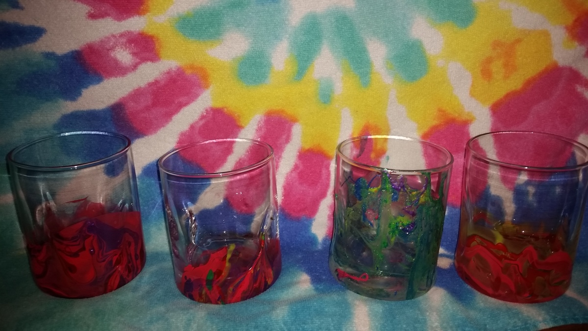 Easy toddler project: Marbled Glass